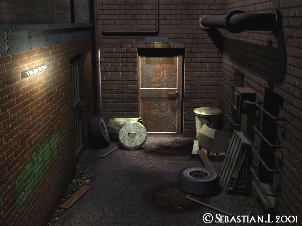 This alley scene was one of the first things i did in 3dsmax
